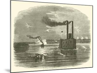 The Lancaster and Switzerland Running the Vicksburg Batteries, March 1863--Mounted Giclee Print