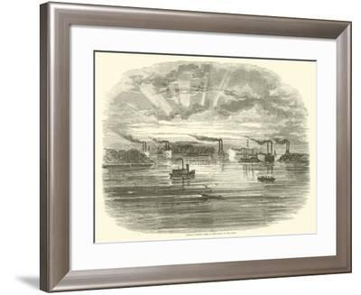 Admiral Porter's Fleet at the Mouth of the Yazoo, December 1862--Framed Giclee Print