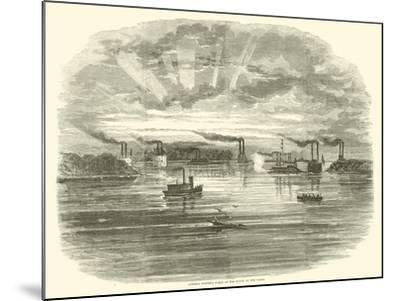 Admiral Porter's Fleet at the Mouth of the Yazoo, December 1862--Mounted Giclee Print