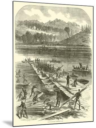 Laying the Pontoons for Sedgwick's Corps, April 1863--Mounted Giclee Print