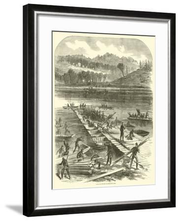Laying the Pontoons for Sedgwick's Corps, April 1863--Framed Giclee Print