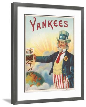 Yankees, Outer Cigar Box Label, Printed by Hermann Shott, C.1912--Framed Giclee Print