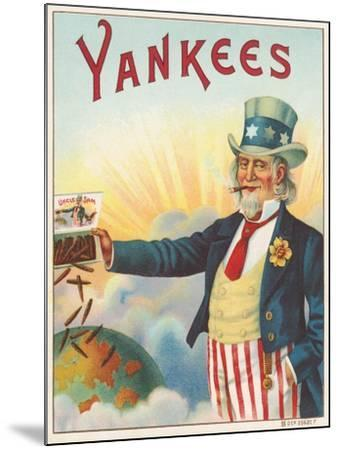 Yankees, Outer Cigar Box Label, Printed by Hermann Shott, C.1912--Mounted Giclee Print