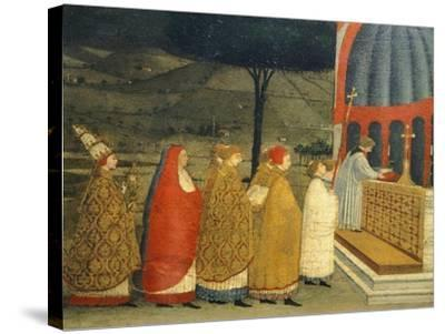 Predella of Miracle of Profaned Host-Paolo Uccello-Stretched Canvas Print