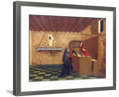 Predella of Miracle of Profaned Host-Paolo Uccello-Framed Giclee Print