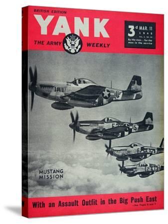 Us Army Yank Magazine British Edition, 11th March 1945--Stretched Canvas Print