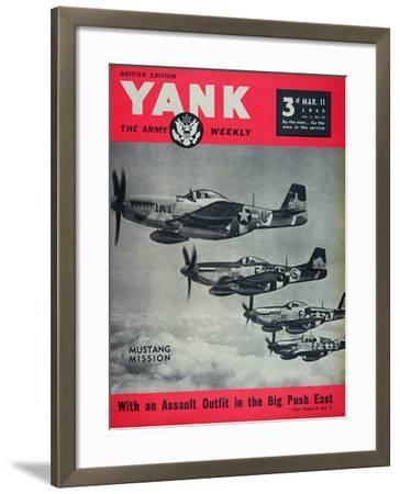 Us Army Yank Magazine British Edition, 11th March 1945--Framed Giclee Print