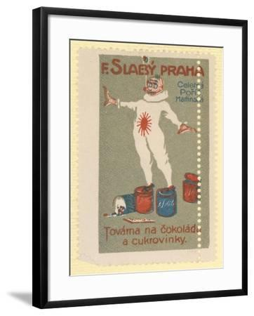 F Slaby Chocolate and Sugar Confectionery Factory, Prague--Framed Giclee Print