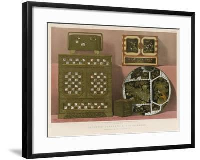 Japanned Cabinets and Earthenware Contributed by Sir R Allcock, C B--Framed Giclee Print
