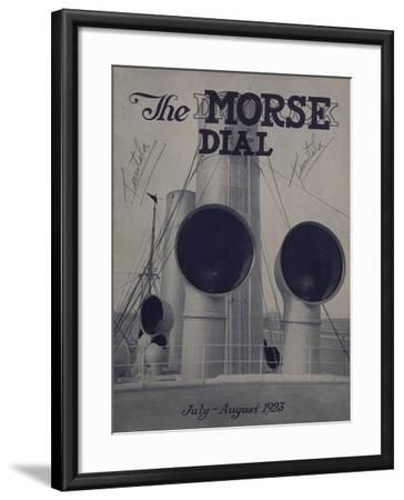 Tusitala, Front Cover of the 'Morse Dry Dock Dial', July-August 1923--Framed Giclee Print