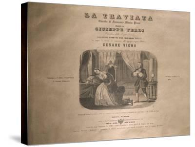 Italy, Milan, Title Page of 'La Traviata'-Giuseppe Verdi-Stretched Canvas Print