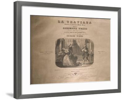 Italy, Milan, Title Page of 'La Traviata'-Giuseppe Verdi-Framed Giclee Print