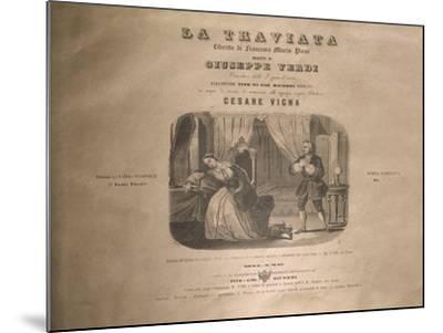 Italy, Milan, Title Page of 'La Traviata'-Giuseppe Verdi-Mounted Giclee Print