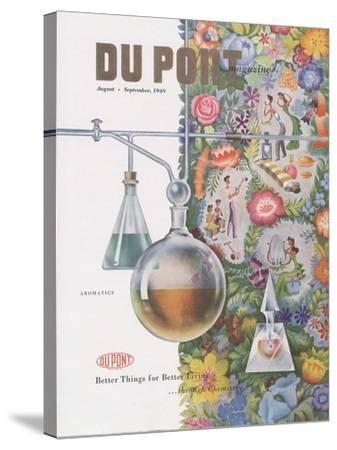 Aromatics, Front Cover of 'The Du Pont Magazine', August-September 1949--Stretched Canvas Print