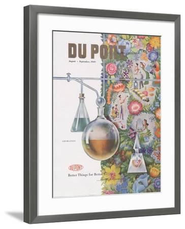 Aromatics, Front Cover of 'The Du Pont Magazine', August-September 1949--Framed Giclee Print