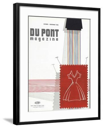 Textiles, Front Cover of 'The Du Pont Magazine', October-November 1955--Framed Giclee Print