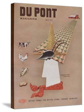 Agriculture and Du Pont, Front Cover of 'The Du Pont Magazine', April 1947--Stretched Canvas Print