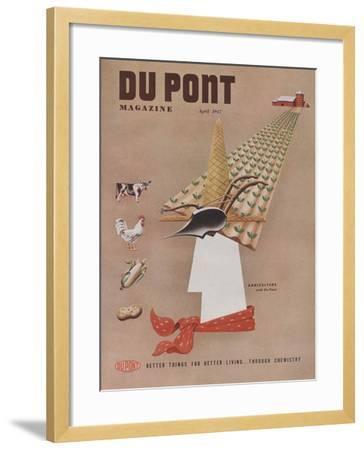 Agriculture and Du Pont, Front Cover of 'The Du Pont Magazine', April 1947--Framed Giclee Print