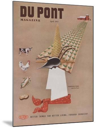 Agriculture and Du Pont, Front Cover of 'The Du Pont Magazine', April 1947--Mounted Giclee Print