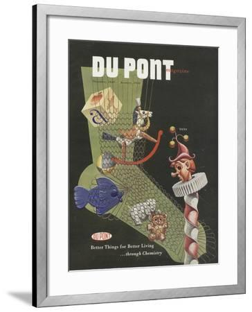 Toys, Front Cover of the 'Dupont Magazine', December 1949-January 1950--Framed Giclee Print