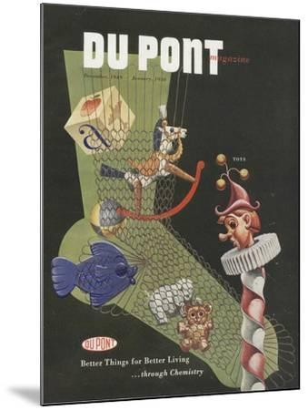 Toys, Front Cover of the 'Dupont Magazine', December 1949-January 1950--Mounted Giclee Print