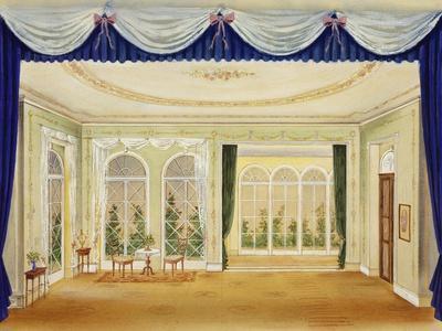 Set Design for Two Widows, Opera-Bedrich Smetana-Framed Giclee Print