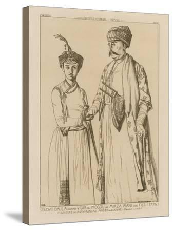 Soudiat Daula, Grand Vizier of the Mongols and His Son, Mirza Mani--Stretched Canvas Print