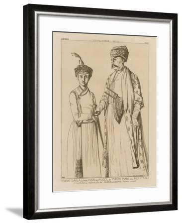 Soudiat Daula, Grand Vizier of the Mongols and His Son, Mirza Mani--Framed Giclee Print