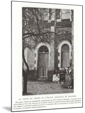The Door to the Choir of the Abbey Church of Solesmes, France--Mounted Giclee Print