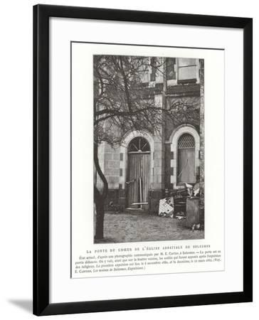 The Door to the Choir of the Abbey Church of Solesmes, France--Framed Giclee Print