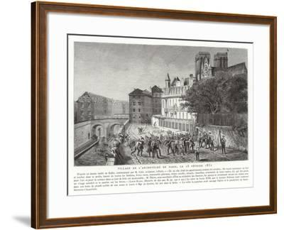 Looting of the Palace of the Archbishop of Paris, 15 February 1831--Framed Giclee Print