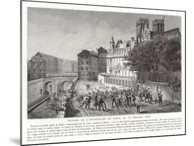 Looting of the Palace of the Archbishop of Paris, 15 February 1831--Mounted Giclee Print