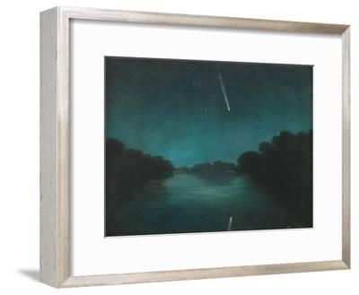 The Great Comet of 1861 as Seen from Staines Bridge, Middlesex--Framed Giclee Print