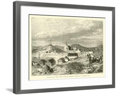 Godthaab, the First Danish Mission Station in Greenland--Framed Giclee Print