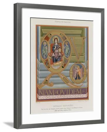Initials from an 8th-Century Illuminated Manuscript--Framed Giclee Print