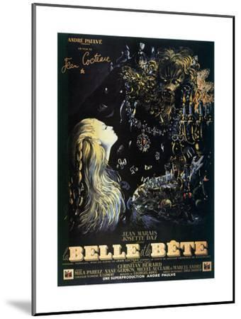 Poster for the Jean Cocteau Film 'La Belle Et La Bete', 1946--Mounted Giclee Print