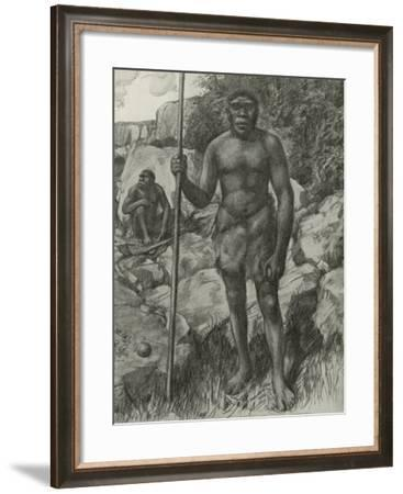 Man Whose Skull Was Discovered in Rhodesia in 1921--Framed Giclee Print
