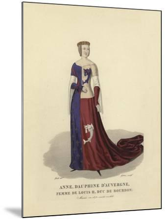Anne of Auvergne, Wife of Louis II, Duke of Bourbon--Mounted Giclee Print