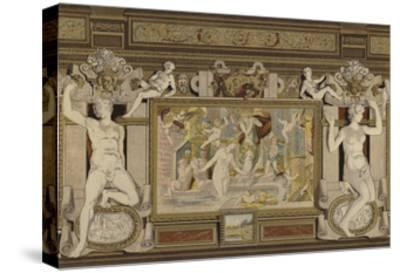 Fresco in the Chateau De Fontainebleau, France, 16th Century--Stretched Canvas Print