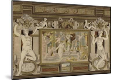 Fresco in the Chateau De Fontainebleau, France, 16th Century--Mounted Giclee Print
