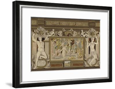 Fresco in the Chateau De Fontainebleau, France, 16th Century--Framed Giclee Print