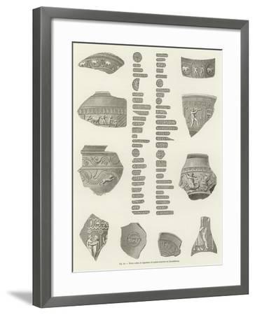 Terres Cuites Et Signatures De Potiers Trouvees Au Luxembourg--Framed Giclee Print