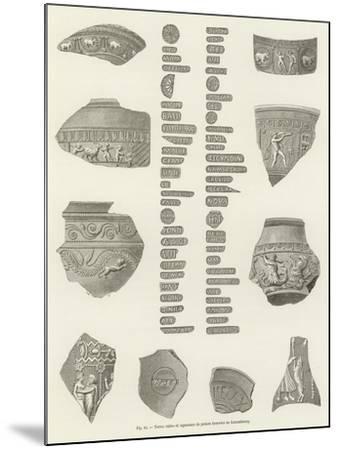 Terres Cuites Et Signatures De Potiers Trouvees Au Luxembourg--Mounted Giclee Print