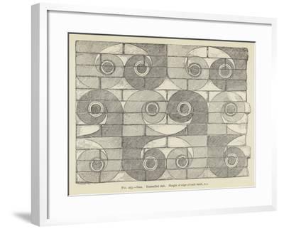 Susa, Enamelled Slab, Height of Edge of Each Brick, 9 C--Framed Giclee Print