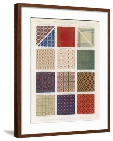Quilts and Tapestries of the 12th and 13th Centuries--Framed Giclee Print