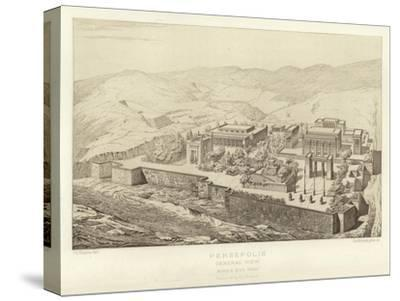 Persepolis, General View, Bird's Eye View, Restored by Ch Chipiez--Stretched Canvas Print