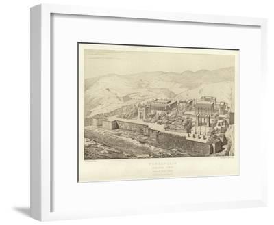 Persepolis, General View, Bird's Eye View, Restored by Ch Chipiez--Framed Giclee Print