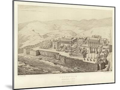 Persepolis, General View, Bird's Eye View, Restored by Ch Chipiez--Mounted Giclee Print