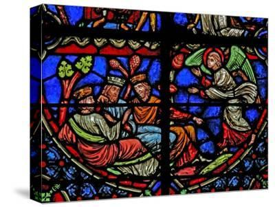 Window W3 Depicting the Magi are Warned in a Dream--Stretched Canvas Print