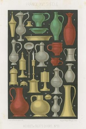 Furniture and Various Objects of the 12th and 13th Centuries--Stretched Canvas Print